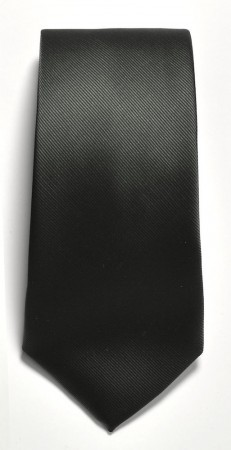 Tie solid color Black